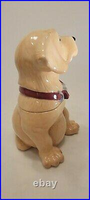 12.5 Vintage Canine Kitchen Collection By Big Sky Carvers Cookie Jar Yellow Lab