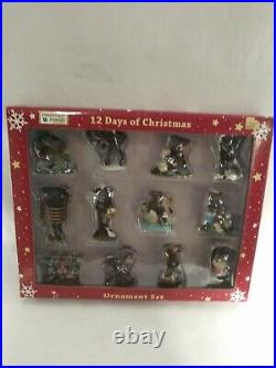 12 Days Of Christmas Ornament Set Rare boxed Mountain Mooses By Phyllis Driscol