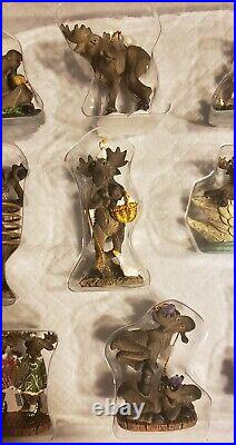 12 Days Of Christmas Ornaments Big Sky Carvers Mountain Mooses New In Box Rare