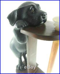 15.5 Big Sky Carvers Black Lab Puppy Dog Paper Towel Roll Holder Heavy
