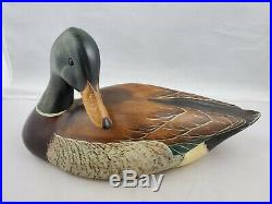 1999 Big Sky Carvers Scott Huntsman Signed Wood Mallard Duck Decoy Glass Eye 14