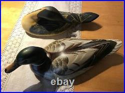 2 Orvis Estate Duck Decoys Big Sky Carver Nice Condition