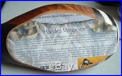 2005 SD Ducks Unlimited Hooded Merganser Wood Duck Decoy Big Sky Carvers