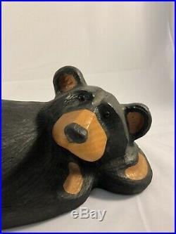 24 Big Sky Carvers Jeff Fleming Carved Wood Black Bear Laying Down