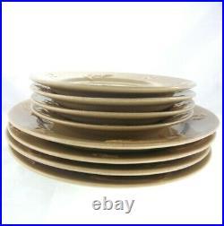 8pc Set Big Sky Carvers Stoneware Fish Fusion Trout Lure Salad Dinner Plates