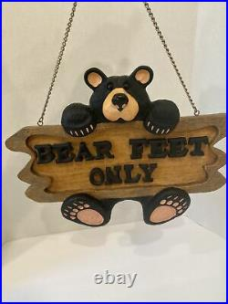 BEARFOOTS Jeff Fleming Big Sky Carvers Bear Feet Only Sign over 14 wide
