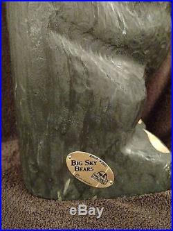 Big Sky Carvers Bears Solid Western Pine 19 Carved Wood Jeff Fleming