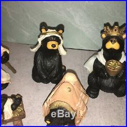 BIG SKY CARVERS BearFoots BEARTIVITY I/II Figurines Bear Jeff Fleming Nativity