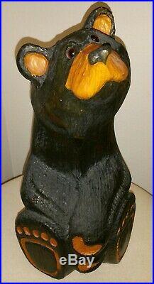 BIG SKY CARVERS/Bears Jeffrey 15 1/2 Woodcarved Black Bear(Jeff Fleming)