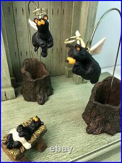BIG SKY CARVERS Beartivity I & II Handmade Nativity Sets 10 Pcs CRECHE NOT INCL