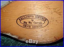 Big Sky Carvers Exclusive Edition Duck Decoy Orvis Mint