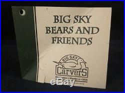 BIG SKY CARVERS Jeff Fleming Solid 15 Wood Bear JEFFERY NEW in ORIGINAL BOX