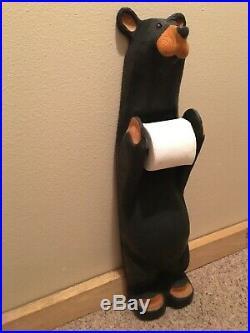 BIG SKY CARVERS John Solid wood carved toilet paper holder