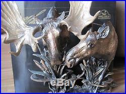 BIG SKY CARVERS MARSH MATES MOOSES #38012 Figurine CABIN RUSTIC SCULPTURE NEW