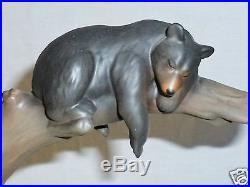 BIG SKY CARVERS Marc PIERCE Sculptural VASE cubs BEARS Tree Stream Earthenware