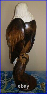BIG SKY CARVERS Masters Edition Limited Retired Bald Headed Eagle HUGE RARE