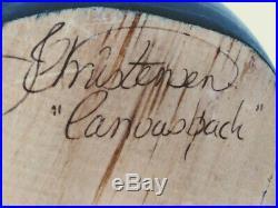 BIG SKY CARVERS Rare Canvasback Drake DECOY by Master Carver, CHRISTENSEN