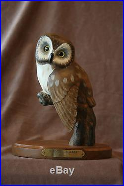 Big Sky Carvers Wood Owl By Ken White #145/1250 Evening Tracker