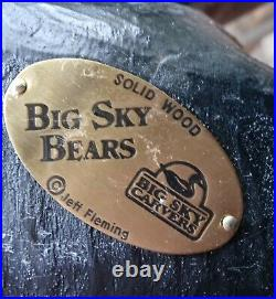 BIG SKY CARVERS WOODEN JOHN BEAR TOLIET PAPER HOLDER Jeff Fleming 32 T RARE