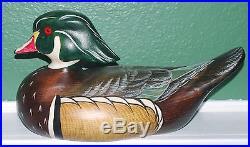 BIG SKY CARVERS Wood Duck Scott Huntsman Signed Decoy Numbered 1008/1999 12