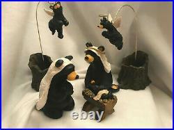 Bear Nativity Set Big Sky Carvers Bear Foots Beartivity Jeff Fleming Retired