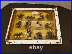 BearFoots By Jeff Fleming 12 days of christmas ornament set. Please Read Descrip