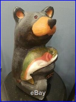 Bearfoots Bear Jeff Fleming Big Sky Carvers Large Standing Bear with Fish 15