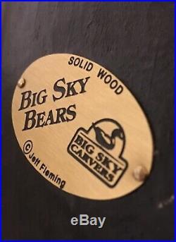 Bearfoots Bear Jeff Fleming Big Sky Carvers Large Standing Waving Bear 12 Cabin