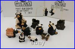 Bearfoots Bears Beartivity Nativity Jeff Fleming Big Sky Carvers 2 sets with box
