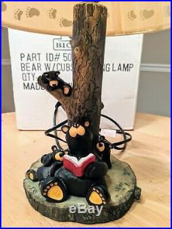 Bearfoots Bears by Jeff Fleming BEAR WITH CUBS Lamp Big Sky Carvers -Numbered