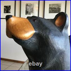 Bearfoots Large Sitting Mantle BEAR Jeff Fleming BIG SKY Carvers Wood Carved 15