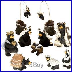 Beartivity I & II Bearfoots Big Sky Carvers Jeff Fleming Black Bear Nativity