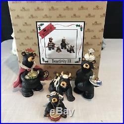 Beartivity I II III Bearfoots Nativity Arch Jeff Fleming Big Sky Carvers Set 20