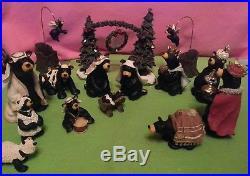Beartivity I II III Bearfoots Nativity With Tree Arch Accessory Big Sky Carvers
