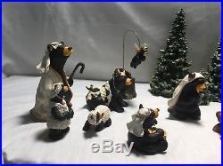 Beartivity I II III Complete Bearfoots Bear Nativity By Big Sky Carvers