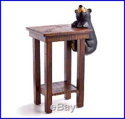 Benjamin Bear Side Table with Benjamin Bear Grand Bear Bearfoots Big Sky Carvers