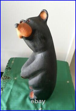 Big Sky Bears Carvers Jeff Fleming Wood Carved Golfer Bear 20