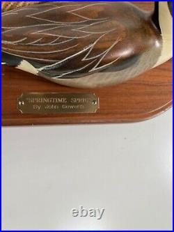 Big Sky Carver John Gewerth Wooden Duck Decoys Springtime Sprig116/1250 Original
