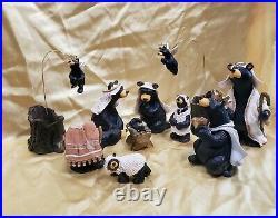 Big Sky Carvers 12 Piece Bearfoot Beartivity II Nativity Numbered JEFF FLEMING