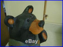 Big Sky Carvers 15 wooden bear Bernie Bear # 1832 with orig. Box