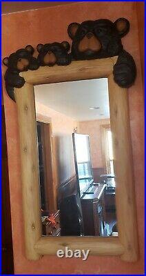 Big Sky Carvers 3-Bear Vintage Large Mirror
