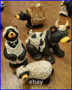 Big Sky Carvers BEARTIVITY BearFoots, Full Christmas Nativity Scene Jeff Fleming