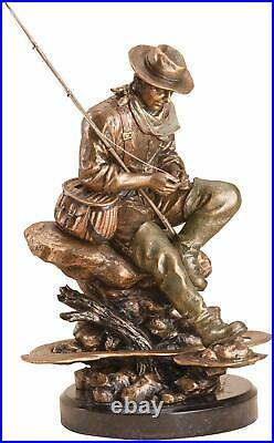 Big Sky Carvers BLISS Fly-Fisherman MARC PIERCE Signature Collection Sculpture