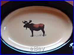 Big Sky Carvers BRUSHWERKS Oval Serving Platter Moose 16 x 11