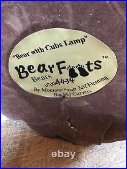 Big Sky Carvers Bear Foots Bear With Cubs Reading Lamp By Artist Jeff Fleming