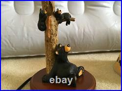 Big Sky Carvers Bear Foots Honey Tree Reading Lamp By Artist Jeff Fleming