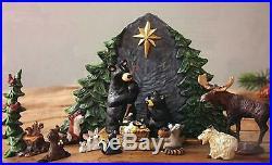 Big Sky Carvers Bearfoots 9-Piece Holiday Christmas Beartivity Bear Nativity Set