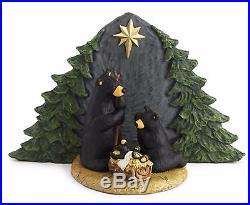 Big Sky Carvers Bearfoots Bear 9 PC Complete Christmas Beartivity Nativity