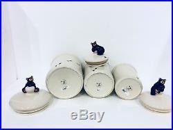 Big Sky Carvers Bearfoots Bear Footprints Ceramic Canister Jar Set Jeff Flemming