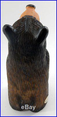 Big Sky Carvers Bearfoots Bears Peety Wood Carved Bear New Free Shipping